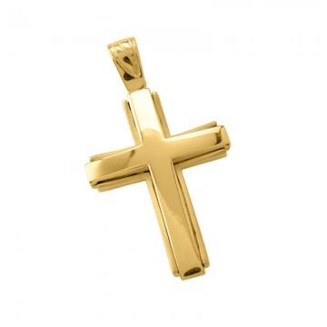 Σταυρός Ανδρικός σε Χρυσό Κ14  ST007G0662