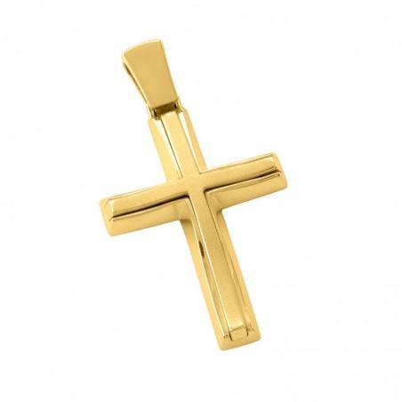 Σταυρός Ανδρικός Σε Χρυσό Κ14 ST008G0661
