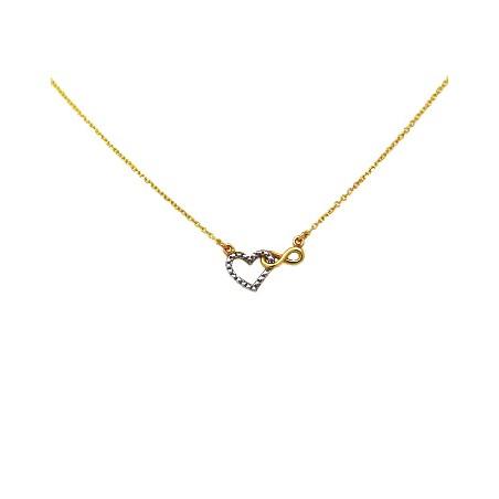 Κρεμαστό Ασημένιο Κολιέ Καρδιά-Άπειρο 925 MTA-1001