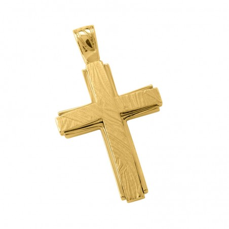 Σταυρός Ανδρικός Σε Χρυσό Κ14 ST009G0659