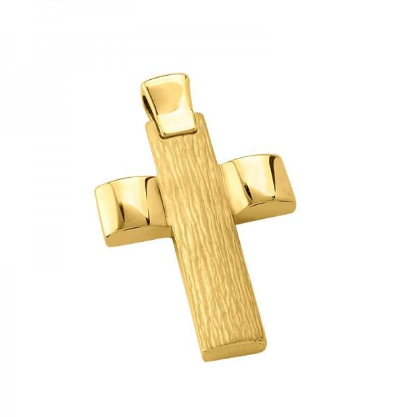 Σταυρός ανδρικός σε χρυσό Κ14 ST010G0651