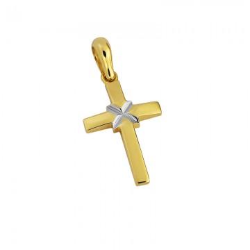 Σταυρός γυναικείος mini σε χρυσό Κ14 ST063F0538