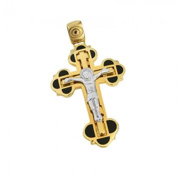Ρώσικος σταυρός unisex σε χρυσό Κ14 ST072G02227