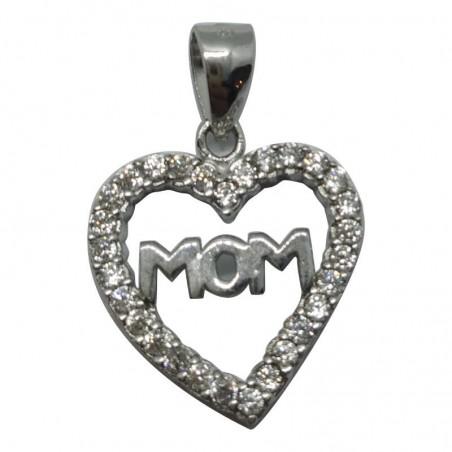 Ασημένια Κρεμαστή Καρδιά Από Ασήμι 925 KRS-1003