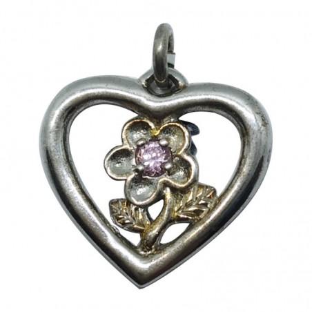 Ασημένια Κρεμαστή Καρδιά Από Ασήμι 925 KRS-1004