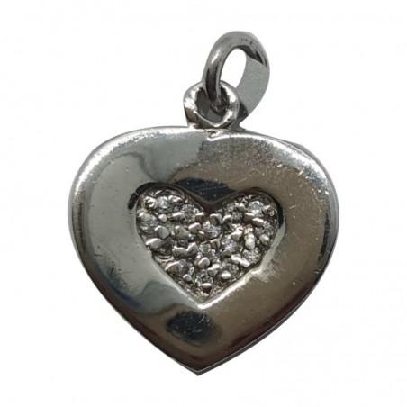 Ασημένια Κρεμαστή Καρδιά Από Ασήμι 925 KRS-1005