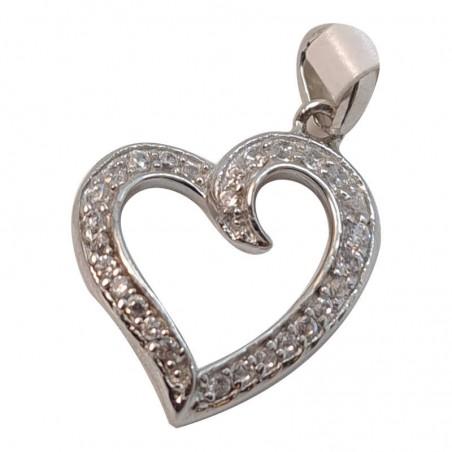 Ασημένια Κρεμαστή Καρδιά Από Ασήμι 925 KRS-1018