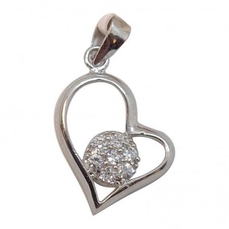 Ασημένια Κρεμαστή Καρδιά Από Ασήμι 925 KRS-1019