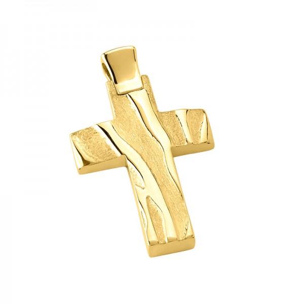 Σταυρός ανδρικός σε χρυσό Κ14 ST0013G0630