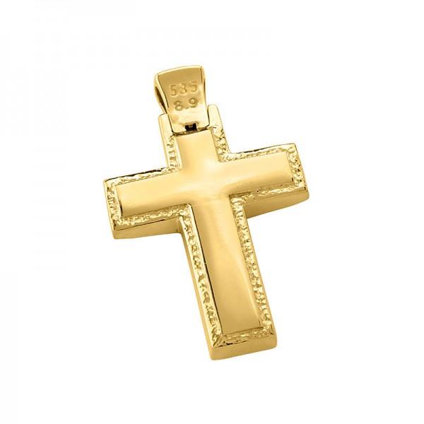 Σταυρός ανδρικός σε χρυσό Κ14 ST014G0628