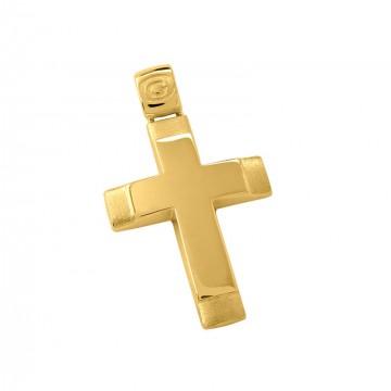 Σταυρός ανδρικός σε χρυσό Κ14 ST016G0618