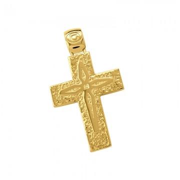 Σταυρός ανδρικός σε χρυσό Κ14 ST019G0596