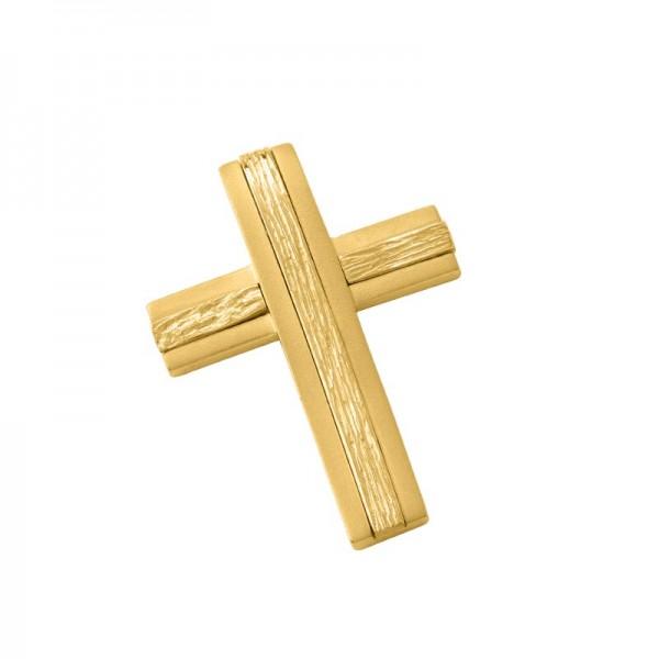 Σταυρός Ανδρικός σε Χρυσό Κ14              ST002G0673