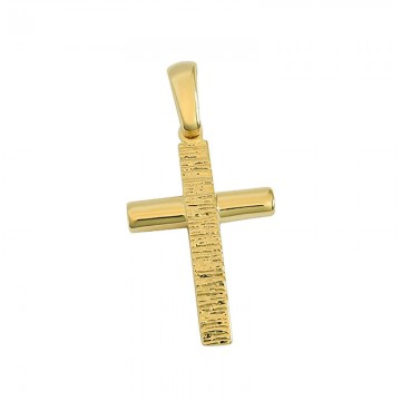 Σταυρός unisex σε χρυσό Κ14 ST022G0561