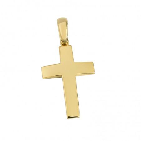 Σταυρός Unisex Σε Χρυσό Κ14 ST025G0551