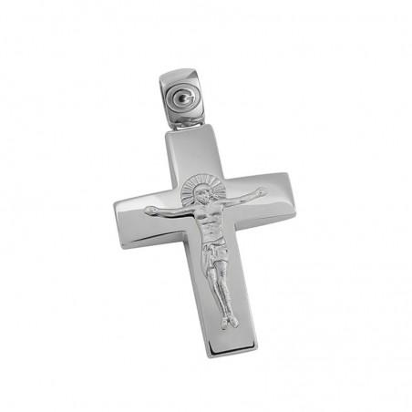 Σταυρός Ανδρικός Σε Λευκόχρυσο Κ14 ST028G0506