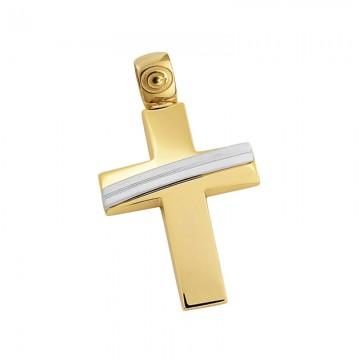 Σταυρός ανδρικός σε χρυσό Κ14 ST029G0457