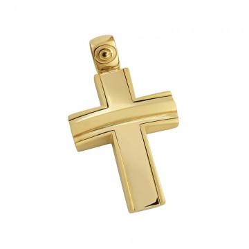 Σταυρός ανδρικός σε χρυσό Κ14 ST031G479X