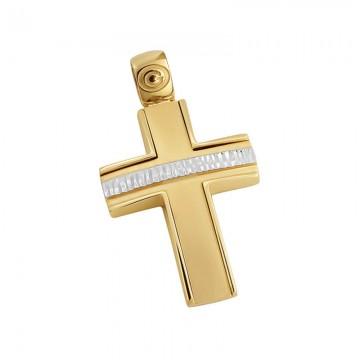 Σταυρός ανδρικός σε χρυσό Κ14 ST032G0479