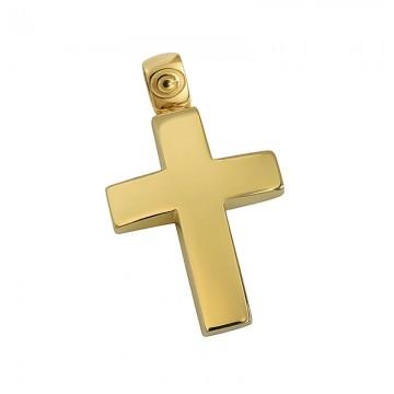 Σταυρός ανδρικός σε χρυσό Κ14 ST033G0477