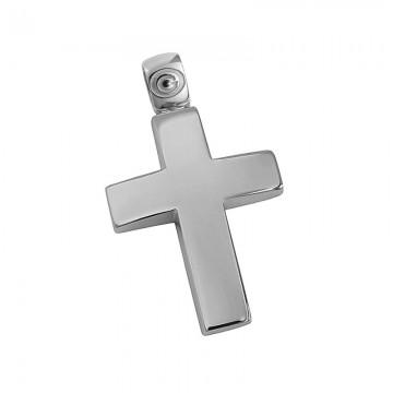 Σταυρός ανδρικός σε λευκόχρυσο Κ14 ST035G0451