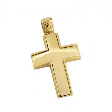 Σταυρός ανδρικός σε χρυσό Κ14 ST037G0469