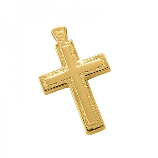 Σταυρός Ανδρικός σε Χρυσό Κ14 ST003G0670
