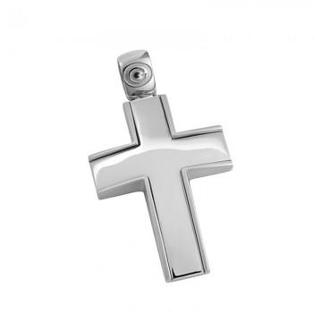 Σταυρός ανδρικός σε λευκόχρυσο Κ14 ST038G0469