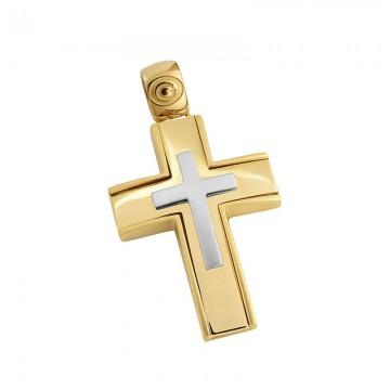 Σταυρός ανδρικός σε χρυσό Κ14 ST039G0468