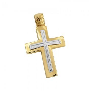 Σταυρός ανδρικός σε χρυσό Κ14 ST041G0459