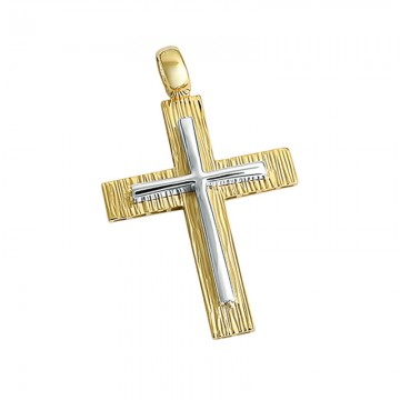 Ανδρικός σταυρός σε χρυσό Κ14 ST042G0434