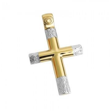 Σταυρός unisex σε χρυσό Κ14 ST043G0432