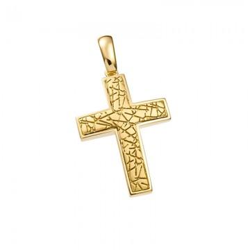 Σταυρός unisex σε χρυσό Κ14 ST045G0347