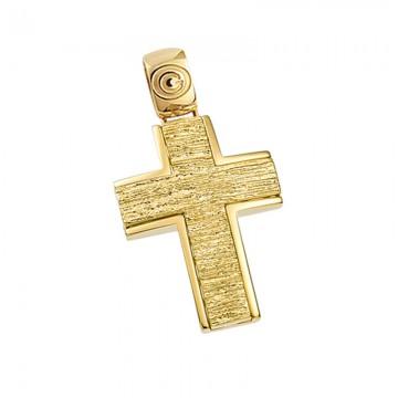 Σταυρός ανδρικός σε χρυσό Κ14 ST047G0325