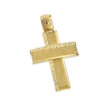 Σταυρός ανδρικός σε χρυσό Κ14 ST048G0315