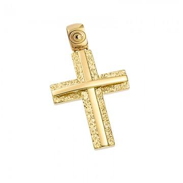 Σταυρός ανδρικός σε χρυσό Κ14 ST049G0316A