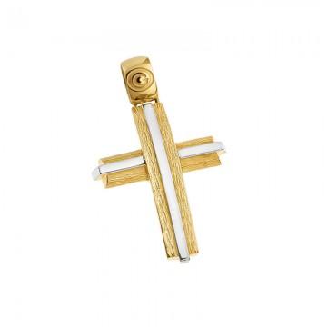 Σταυρός ανδρικός σε χρυσό Κ14 ST051G007
