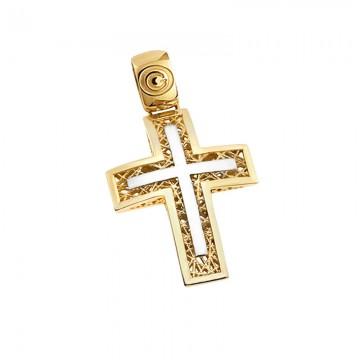 Σταυρός unisex σε χρυσό Κ14 ST055G049