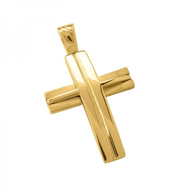 Σταυρός Ανδρικός σε Χρυσό Κ14 ST004G0666