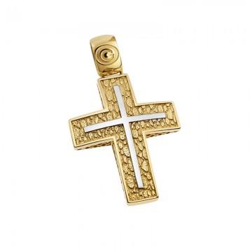 Σταυρός unisex σε χρυσό Κ14 ST060G0021